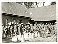 (9th) Gurkhas drawing rations at a French farm house (St Floris, France). Photographer- H. D. Girdwood. (13876127264).jpg