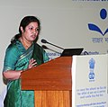 (Smt.) D. Purandeswari addressing at the inauguration of the interactive meeting of Member Secretaries of State Literacy Mission Authorities and Chairpersons and Member Secretaries of the District Lok Shiksha Samities.jpg
