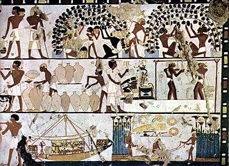 Egyptian wine - Image: Ägyptischer Maler um 1500 v. Chr. 001