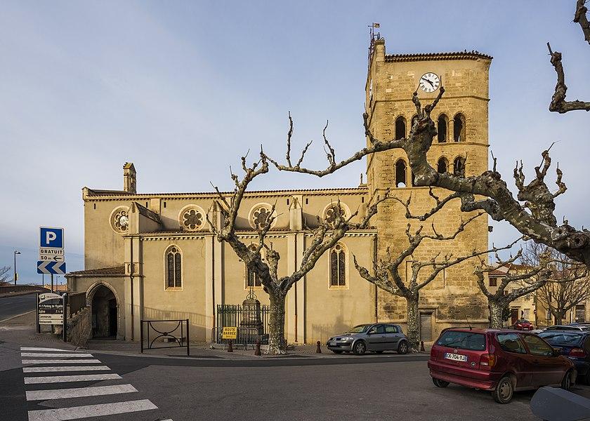Church of Coursan, Aude, France.