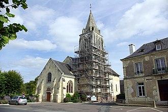 Benais - The church of Saint-Germain, in Benais