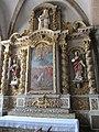 Église Saint-Quentin de Saint-Quentin-sur-le-Homme - autel secondaire La Lapidation de saint Etienne.JPG