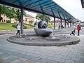 Česká Třebová, před nádražím, fontána se zeměkoulí.jpg