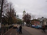 Козелець центральна вулиця жовтень 2008.JPG