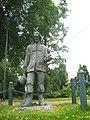Памятник Исааку Уолтону в парке Стаффорда, на берегу реки Соу..jpg
