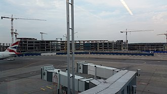 Domodedovo International Airport - New terminal under construction.