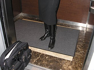 "Midras uncleanness - Woman in niddah state standing on elevator rug using her full body weight, thereby rendering the rug a ""midras tmeiah"" (unpure midras)"