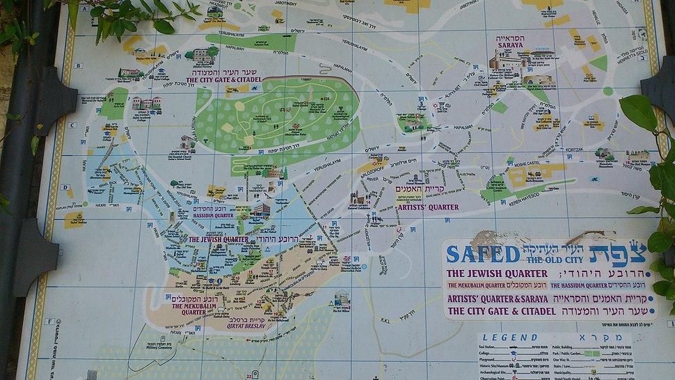 מפת העיר העתיקה של צפת