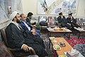 اهداء پرچم حرم علی بن موسی الرضا به هیئت ها یا موکب های مستقر در شهر مهران در ایام پیاده روی اربعین 11.jpg