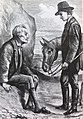 """""""The First Meeting of the Hermit and the Traveller"""", from the book """"The First Principles of Good Cookery """"by Lady Llanover, first published in 1867.jpg"""