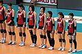 全日本女子バレー 整列 2011 (6376788527).jpg