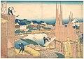 冨嶽三十六景 本所立川-Tatekawa in Honjō (Honjō Tatekawa), from the series Thirty-six Views of Mount Fuji (Fugaku sanjūrokkei) MET DP140997.jpg