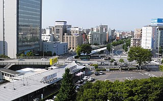 Chikusa Station Railway and metro station in Nagoya, Japan