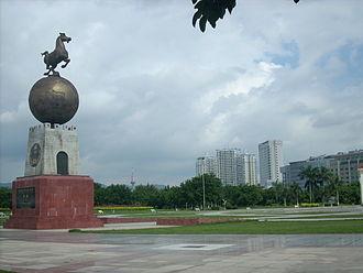 Heyuan - Image: 文化广场
