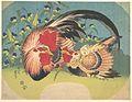 露草に鶏と雛-Rooster, Hen and Chicken with Spiderwort MET DP141265.jpg