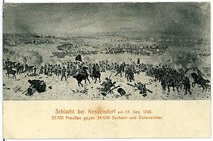 Battle of Kesselsdorf - Image: 01679 Kesselsdorf 1901 Schlacht bei Kesselsdorf Brück & Sohn Kunstverlag
