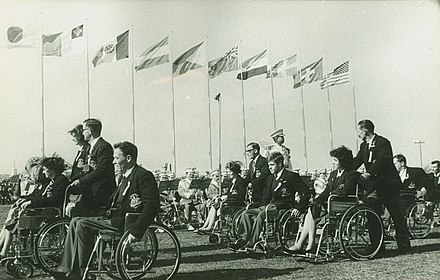 1964 Summer Paralympics in Tokyo 031164 - Tokyo opening ceremony -7 - 1a - adjusted.jpg