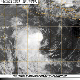 2004–05 Australian region cyclone season - Image: 05S 05 dec 2004 0300Z