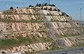 090805 I-70 Geology Road Cut (Morrison-Dakota) North - panoramio.jpg