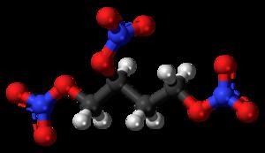 1,2,4-Butanetriol trinitrate - Image: 1,2,4 Butanetriol trinitrate 3D balls