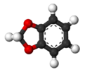 Ball and stick model of 1,3-benzodioxole