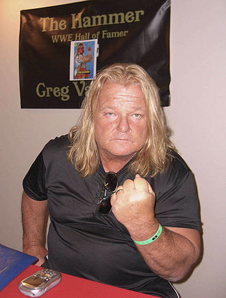 WWE Hall of Fame (2004) - Image: 10.1.10Greg Valentine By Luigi Novi 1