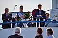 100 Jahre Dampfschiff Stadt Rapperwil - Hafenfest Rapperswil - 'Rosenempfang' durch die Rosenkönigin und Stadtpräsident Erich Zoller 2014-05-23 19-24-57.JPG