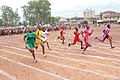 100 meters, Junior Girls racing event 02.jpg