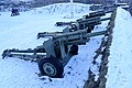 105 mm M101 howitzer Saluttkanoner Kronprinsessens bastion Kristansten festning Trondheim 2019-03-11 (These salute cannons were replaced in November 2019) 07890.jpg