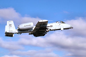 Michigan Air National Guard - 107th Fighter Squadron - A-10 Thunderbolt II taking off from Selfridge AGB, Detroit.  The 107th FS is the oldest unit in the Michigan Air National Guard, having over 80 years of service to the state and nation
