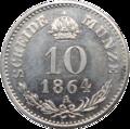 10 kreutzer 1864A rv.png