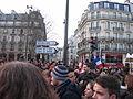 11 janvier 2015 Centre de Paris Manifestants dans les rues.JPG