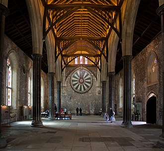 Winchester Castle - Image: 1351065 Great Hall, Winchester Castle (2)