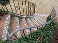 148 Casa Joan Colom, escala del jardí (la Garriga).JPG