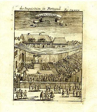 "Inquisition - A copper engraving from 1685: ""Die Inquisition in Portugall"""
