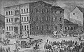 1846 in Poznan. Carrying Polish conspirators. Arrested in February 1846. Building the Police Headquarters.jpg