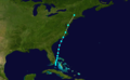 1863 Atlantic tropical storm 6 track.png