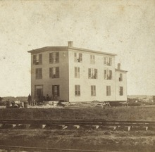 Joseph Mccoy S Drover Hotel Stock Yard In 1867