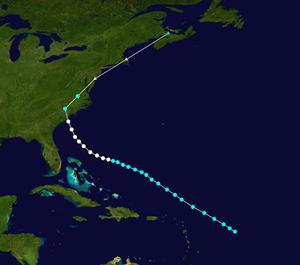 1904 Atlantic hurricane season - Image: 1904 Atlantic hurricane 2 track