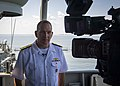 190819-N-UB406-0111NORFOLK, Va. (Aug. 19, 2019) Rear Adm. Edward Cashman, commander, Standing NATO Maritime Group 1 aboard the Portuguese navy frigate NRP Dom Francisco de Almei (48616945642).jpg