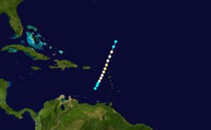 1908 Atlantic hurricane season - Image: 1908 Atlantic hurricane 1 track