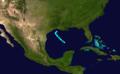 1908 Atlantic tropical storm 7 track.png