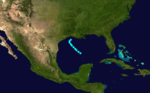 1908 Atlantic tropical storm 7 track.png