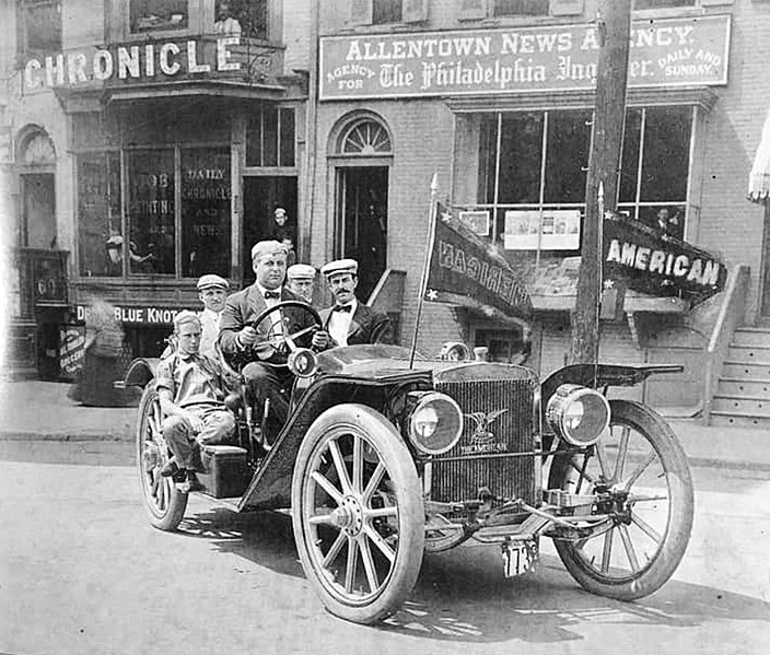 File:1909 - American Underslung Automobile - Center Square - Allentown PA.jpg