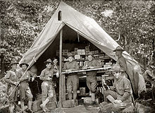 e74b0ac6ace09 Soldiers take a break at a post exchange in this 1914 photo.