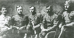 Tambov Rebellion - Alexander Antonov (centre) and his staff