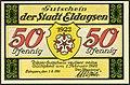 1921-06-01 Gutschein der Stadt Eldagsen, 0,50 Mark 50 Pfennig, gültig bis 1. Februar 1922, a, faksimilierte Unterschrift der Magistrat..jpg