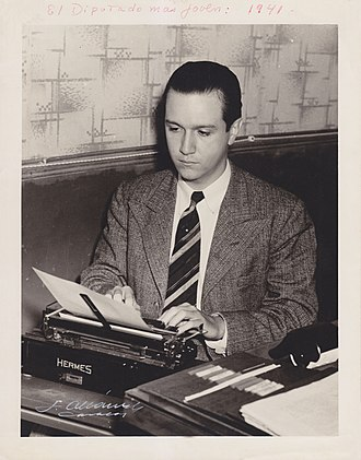 Rafael Caldera - 1941. The youngest representative to be appointed to the National Congress, Rafael Caldera was twenty-five years old.
