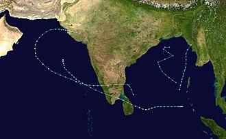 1978 North Indian Ocean cyclone season - Image: 1978 North Indian Ocean cyclone season summary
