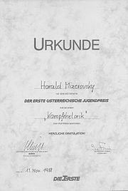 1988 Kampfrhetorik Mizerovsky Jugendpreis